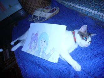 MAH CAT HOLD THE ART XD by SolarisTheHedgehog