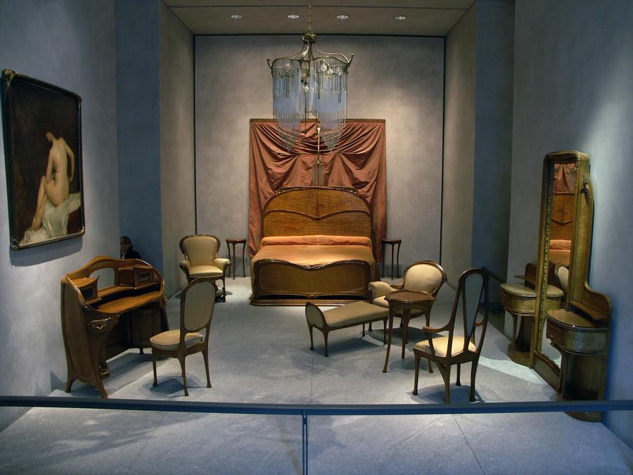 Art nouveau bedroom by evanderiel on deviantart for Art nouveau interior design bedroom