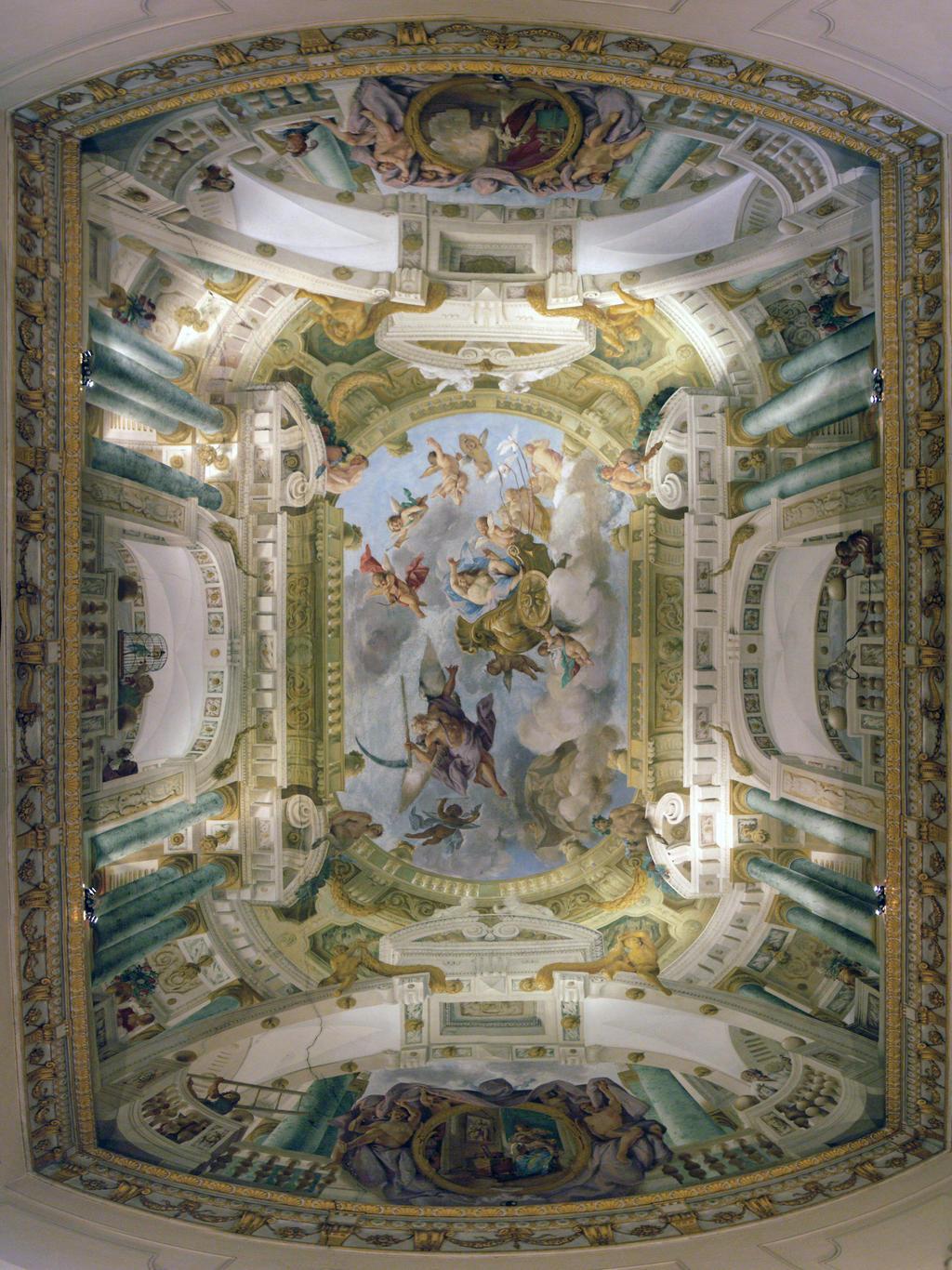 Trompe L Oeil Ceiling By Evanderiel On