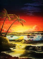 Sunset Beach by jof410