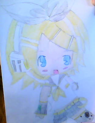 My  Beautiful Drawings :33 Chibi_rin_by_coolapril-d5q3a4x