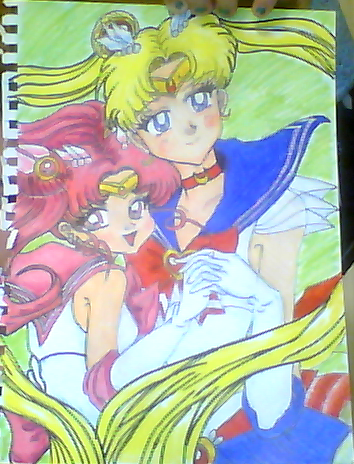 My  Beautiful Drawings :33 Sailor_moon_and_chibi_moon_by_coolapril-d5q3c0q