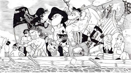 malay pirates by manusia89
