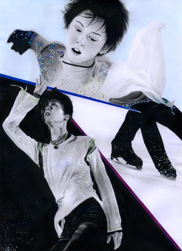 Yuzuru Hanyu pencil drawing by PhotonLights