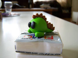 FIMO Dino say Rawr by sweetkrissy