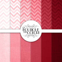 Pink Linen / Burlap Digital Paper Pack by KaipheArt