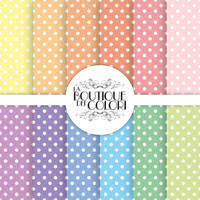 Pastel Polkadots digital paper by KaipheArt