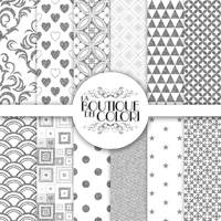 Silver Glitter digital paper, Silver background by KaipheArt