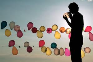 Balloon Man by Cimuanos
