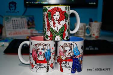 Gotham girls cups by Desinkraft