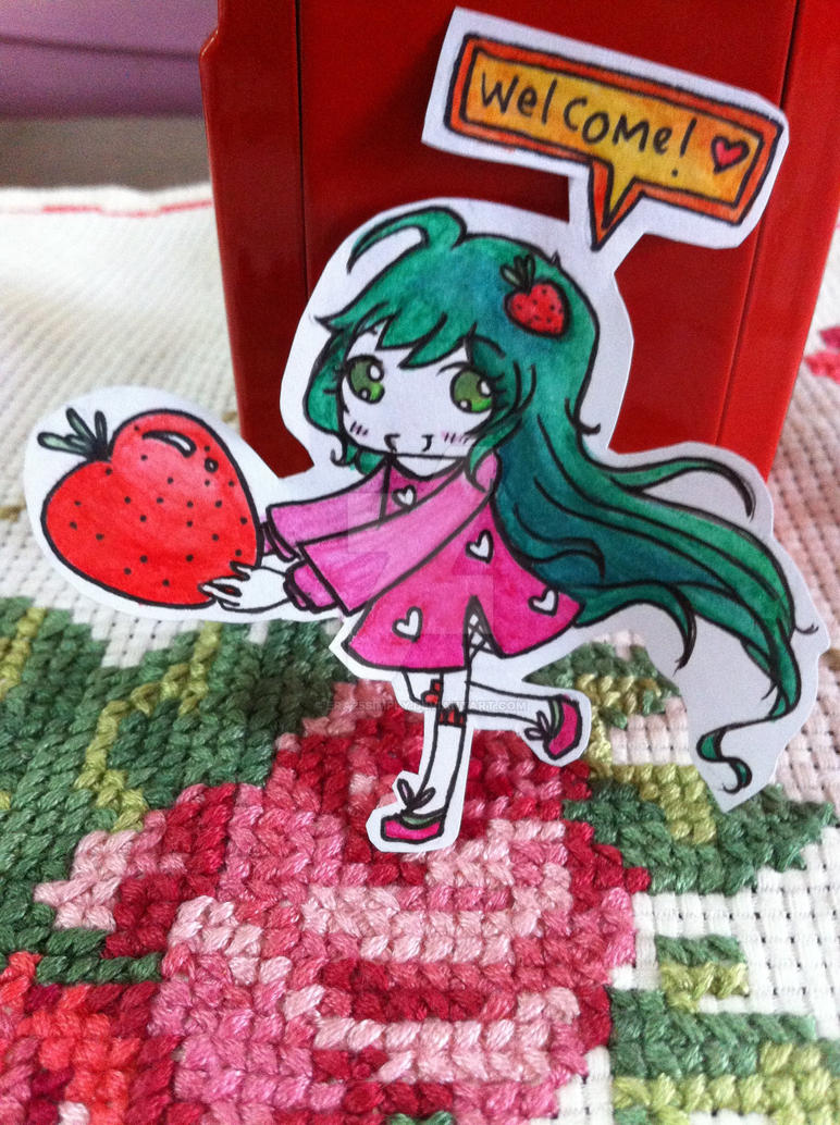 Strawberry-chan (contest entry) by Era25simply
