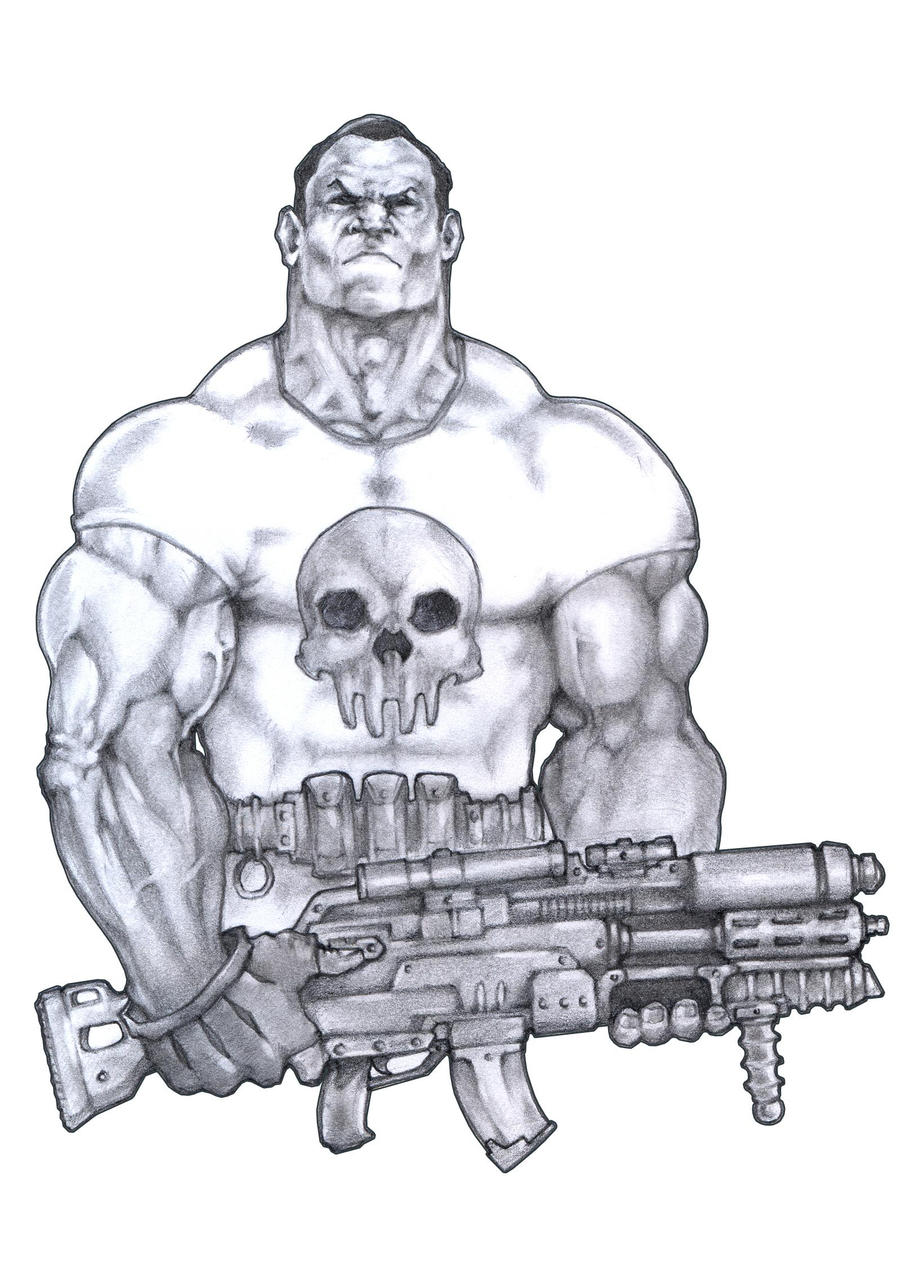 the Punisher by romaxa11