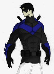 Nightwing Redesign - Color by TheoDJ