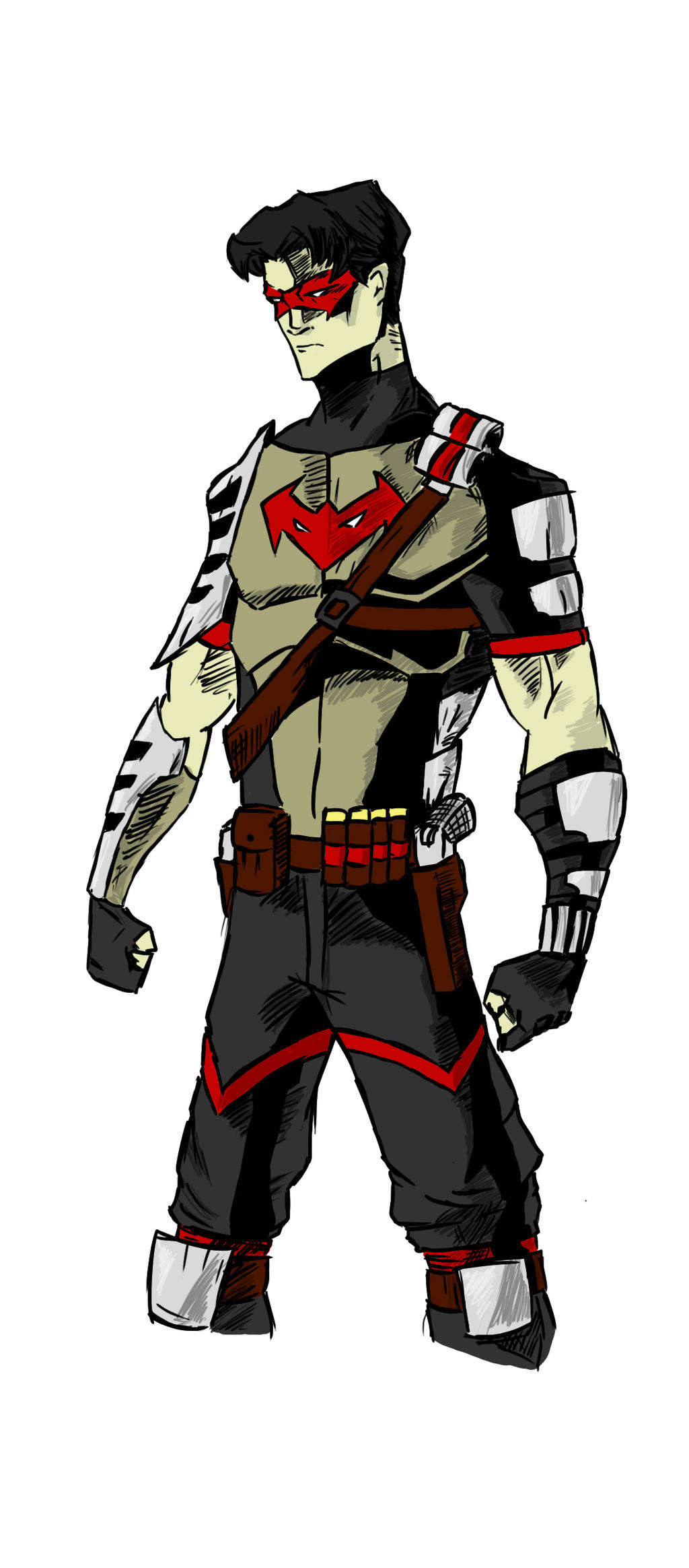 red hood redesign color by theodj