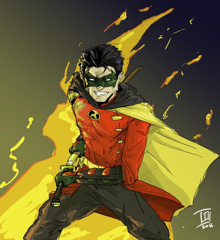 Damian Wayne - Robin by TheoDJ