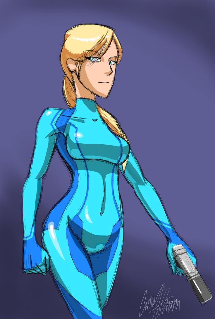 Zero Suit Samus Aran By Ceehoff On Deviantart