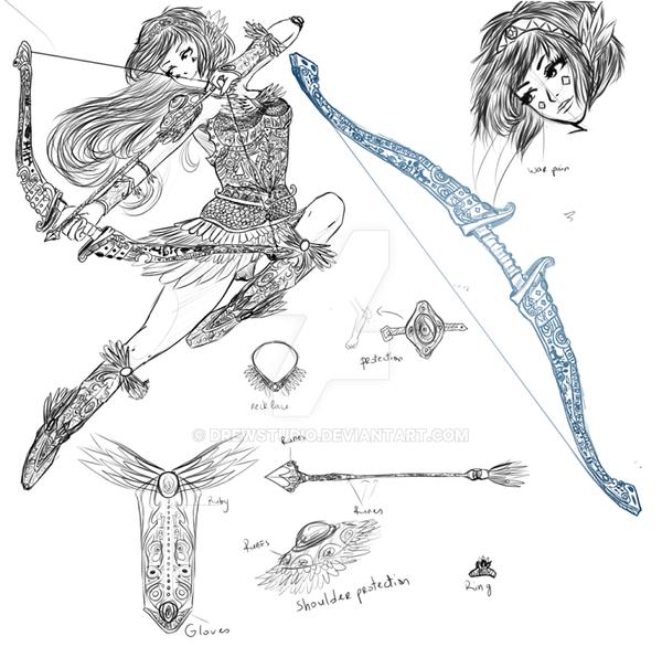 [Sketch] Adoptable Mythology theme #2 by Drewstudio