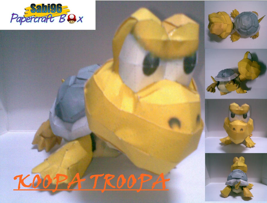 Koopa troopa papercraft by turtwigcuTey