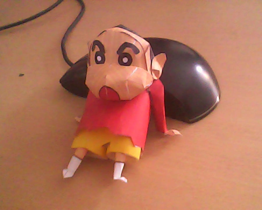 shinchan papercraft by turtwigcuTey