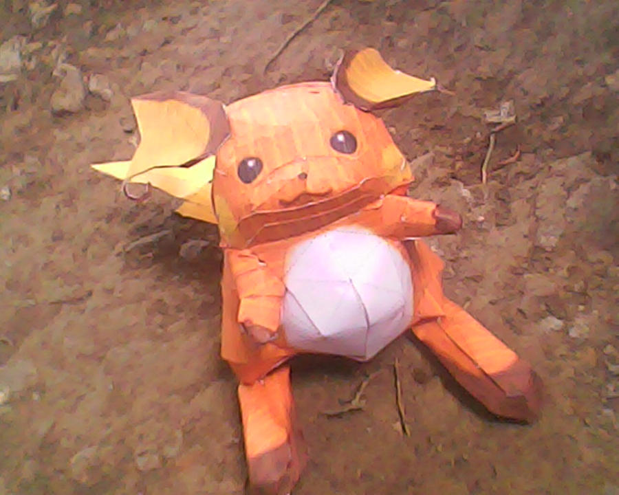 raichu papercraft by turtwigcuTey