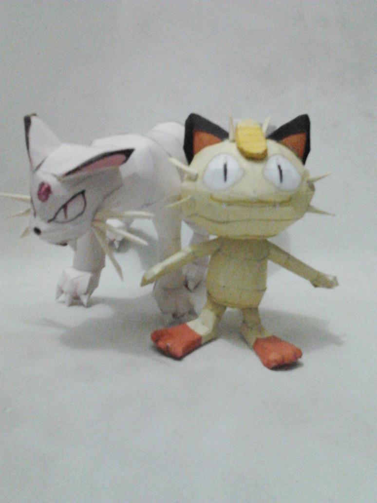 Meowth Family by turtwigcuTey
