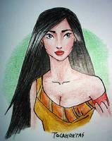 Pocahontas portrait by Lulu-Lomaki