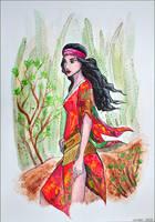 Modern Pocahontas by Lulu-Lomaki