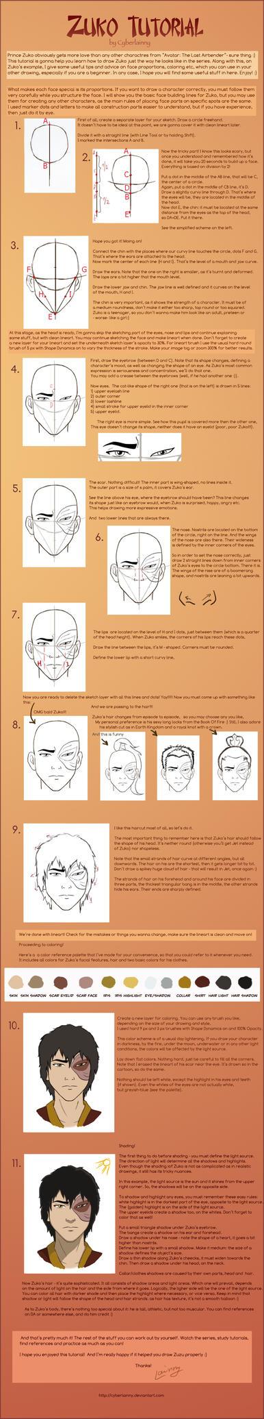 How To Draw Zuko-Tutorial by Lulu-Lomaki