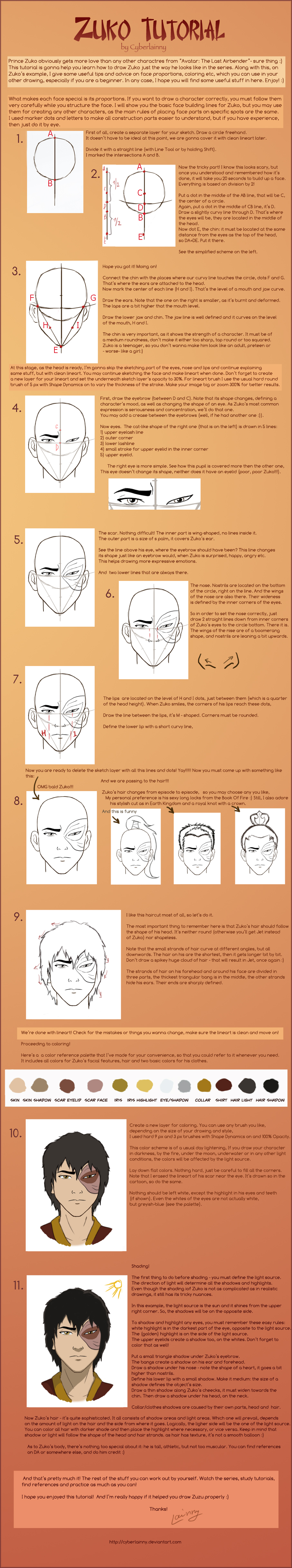 How to draw zuko tutorial by lulu lomaki
