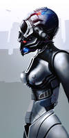 Female police robot