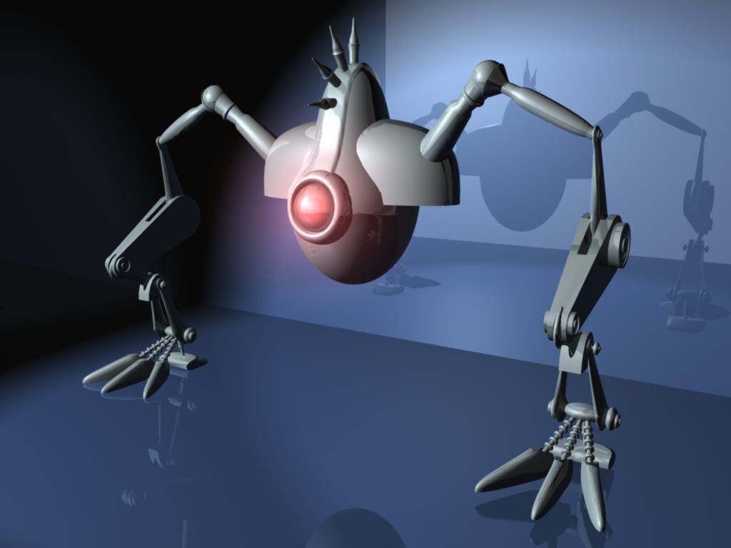 My first robot in maya...