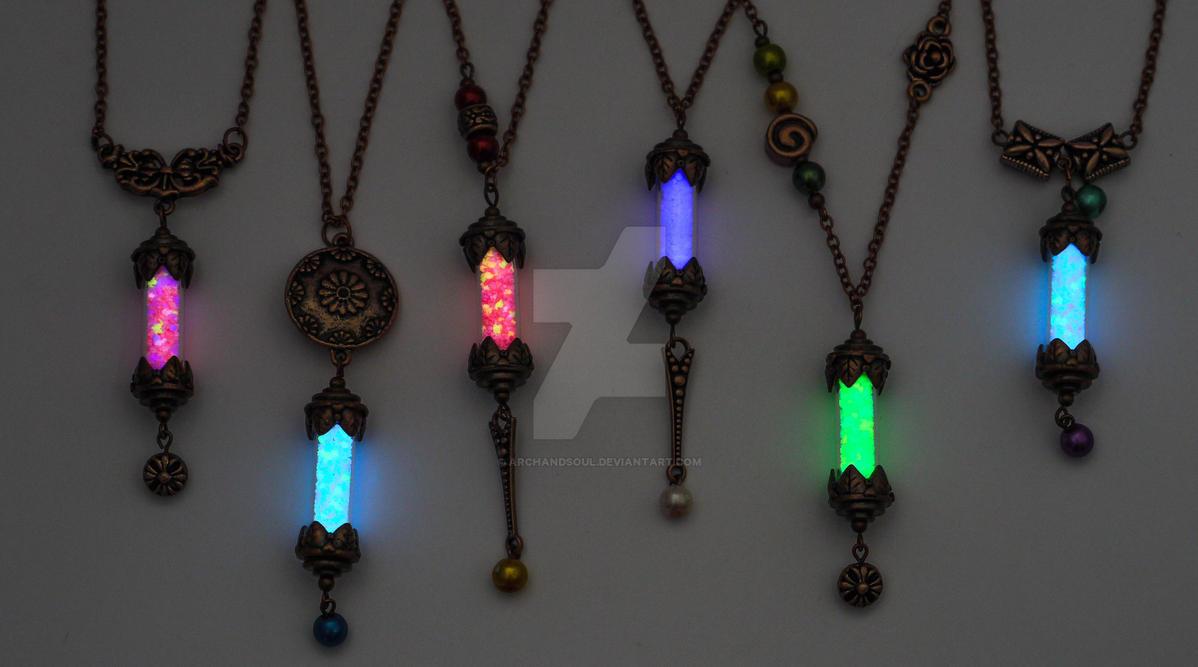 Magical Copper Vials by ArchandSoul