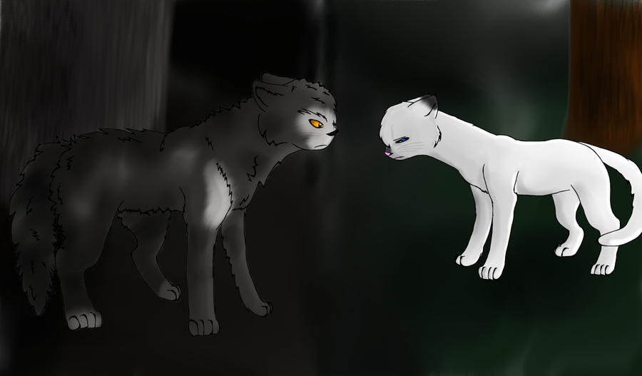 Warrior Cats Thistleclaw And Snowfur Warrior cats thistleclaw and snowfur thistleclaw and snowfur by