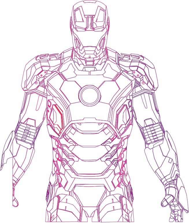 Iron Man mark 42 vector by random-kell on DeviantArt