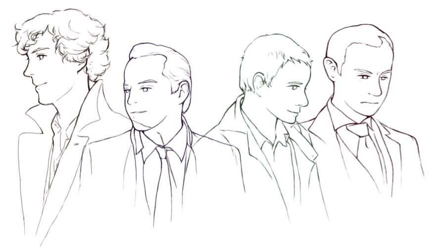 Men in Sherlock by Sherlocka