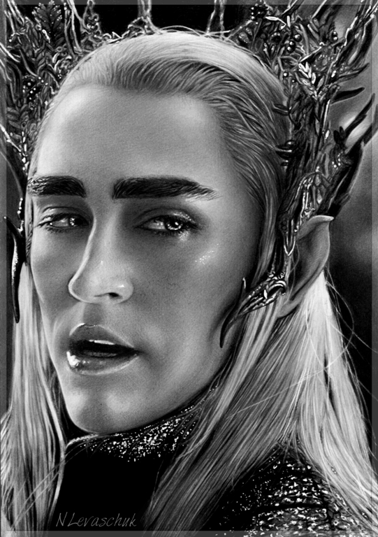 King Thranduil Lee Pace by NLevaschuk