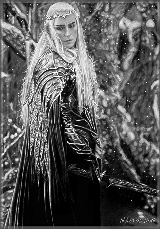 King Thranduil Lee Pace 3 by NLevaschuk