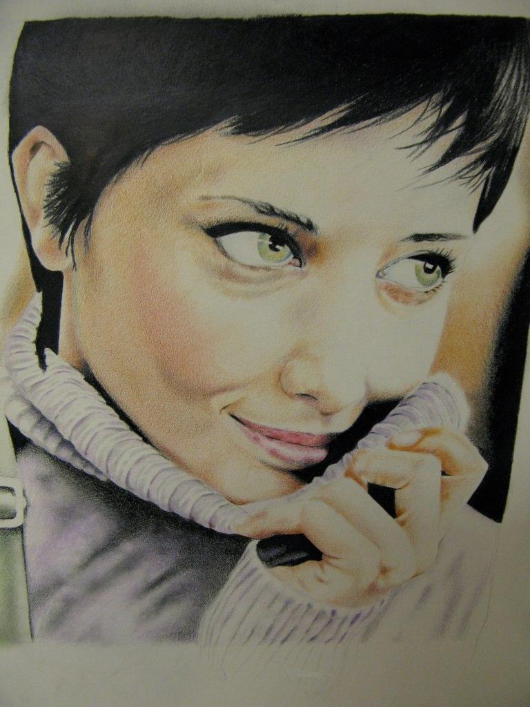colored pencil portrait by kc7655