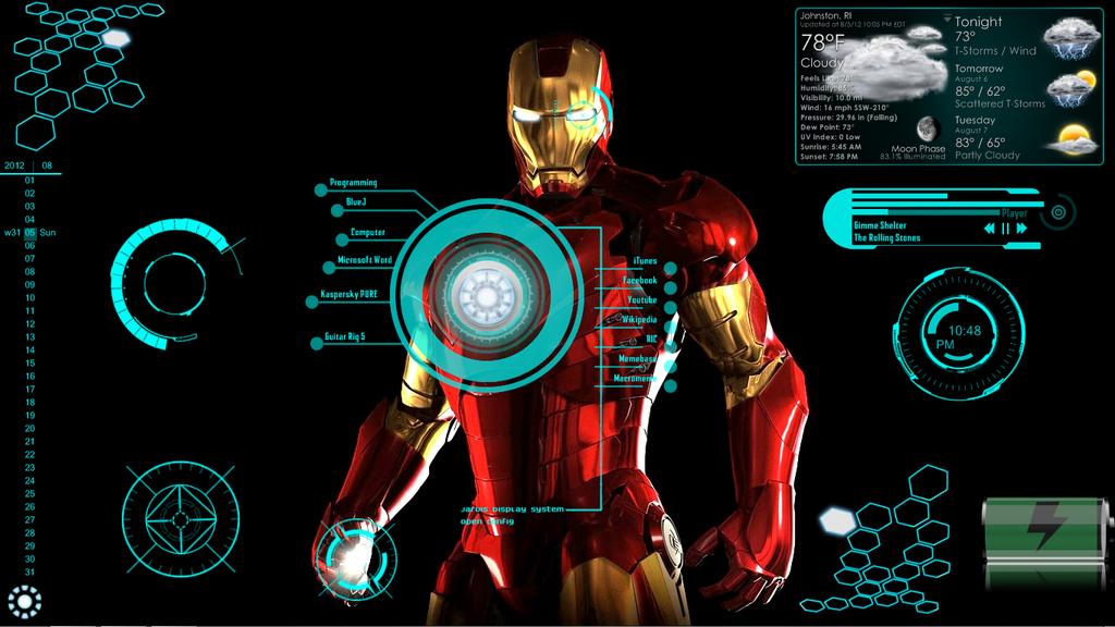 Group of Ironman Jarvis Theme Desktop