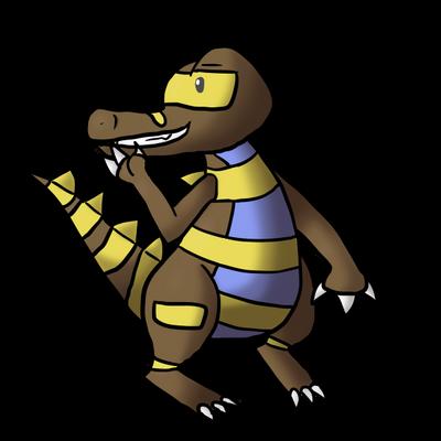 Krokorok Shiny Edition by MapleBranchWing