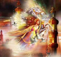 Fantasyenvolee by roserika