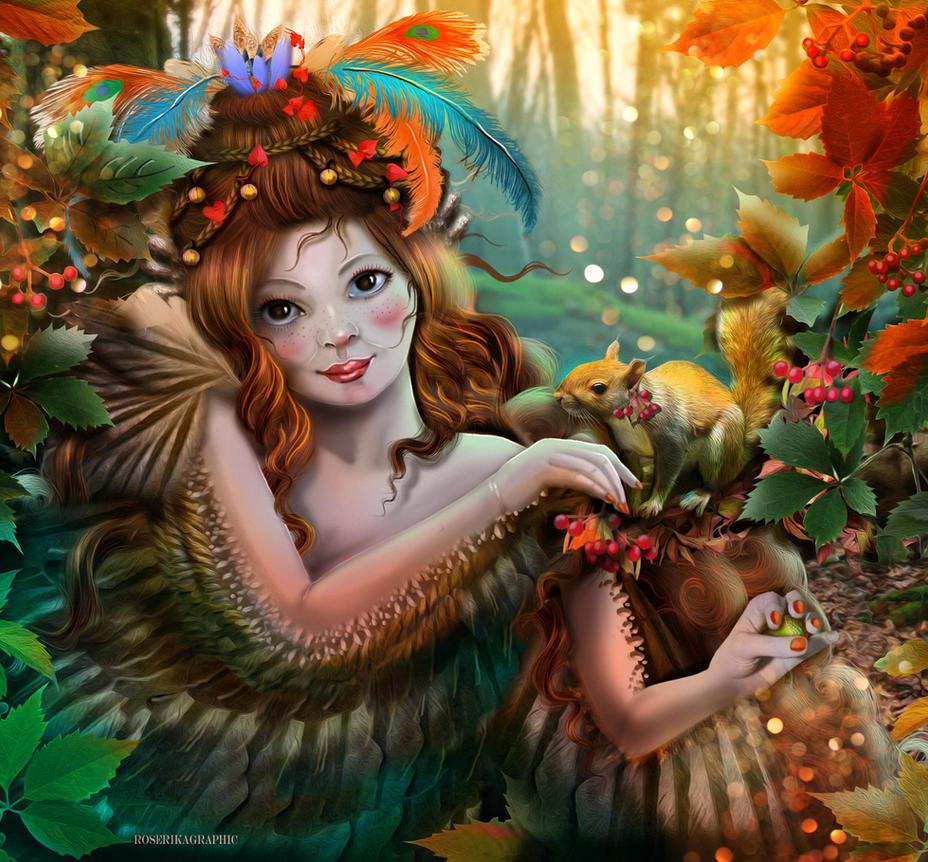 la belle d'automne by roserika
