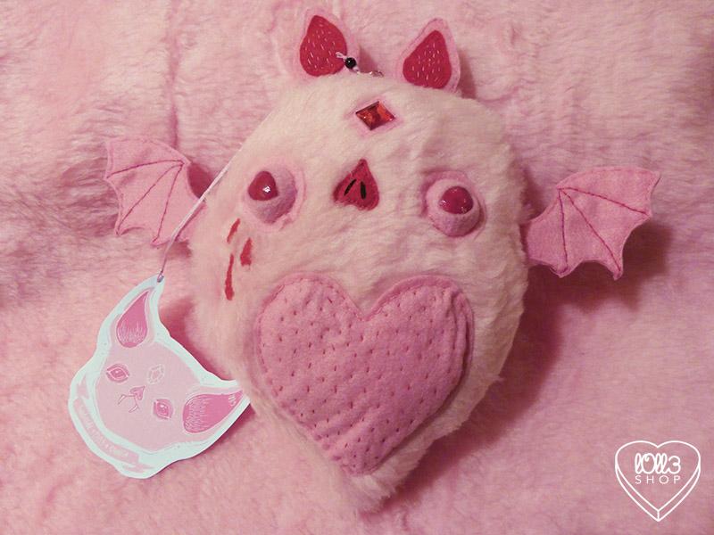 Pink Bat Plush by l0ll3