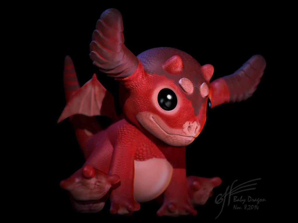 Baby Dragon by StrainedEye