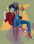 Halloween Marshall Lee Fanart (adventure time) by SleepyMask
