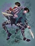 The Akermans - Mikasa and Levi Fanart