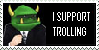 I Support Trolling Stamp by TR0LLHAMMEREN