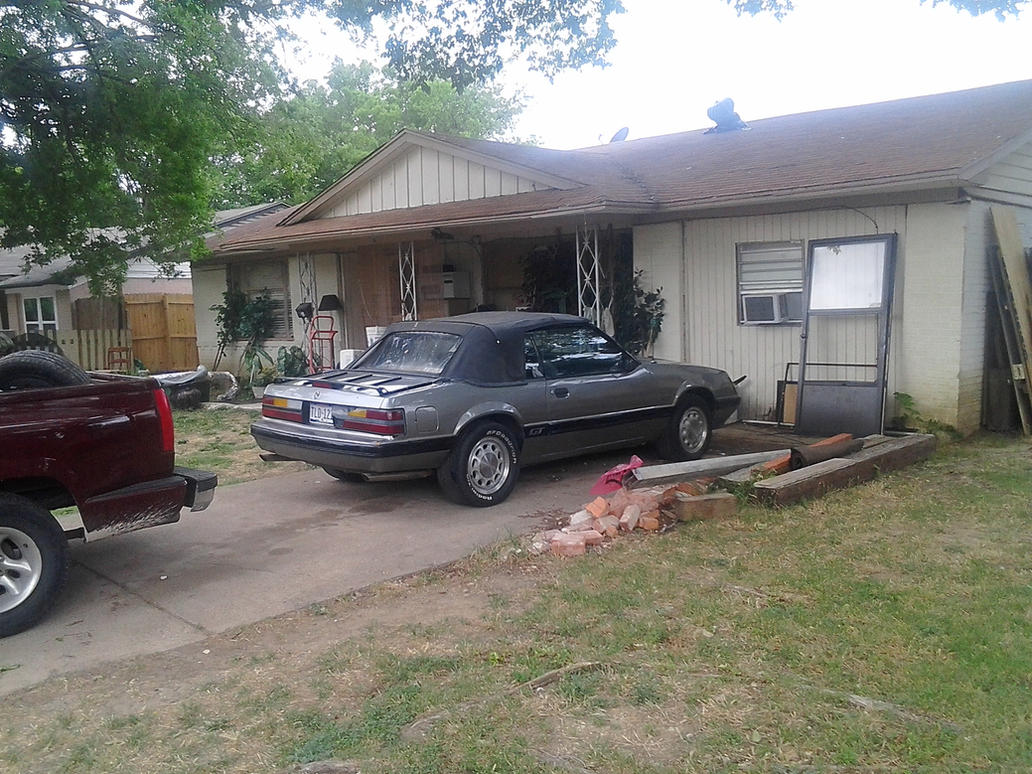 1986 Ford Mustang Gt Convertible Junk Car By Tr0llhammeren On