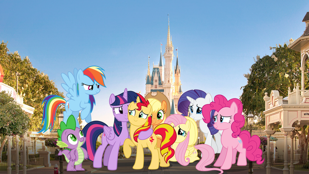 The Mane 7 And Spike In Disney World By YugiohPonyAvengers