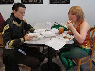 Sushi time with Loki and Aquaman by damnitsasha